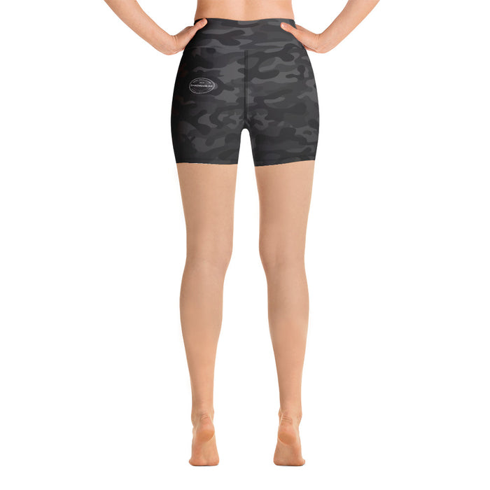Black Camo | Yoga Shorts