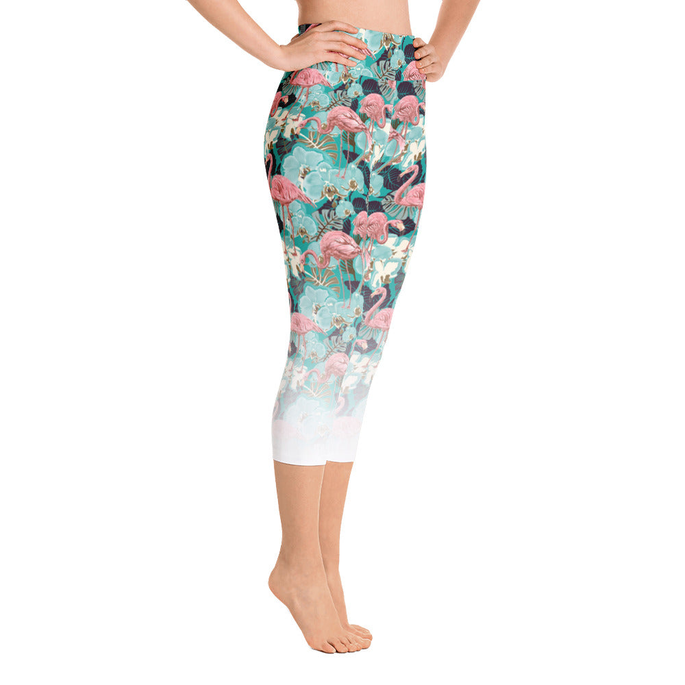 Flamingo | Yoga Capri Leggings