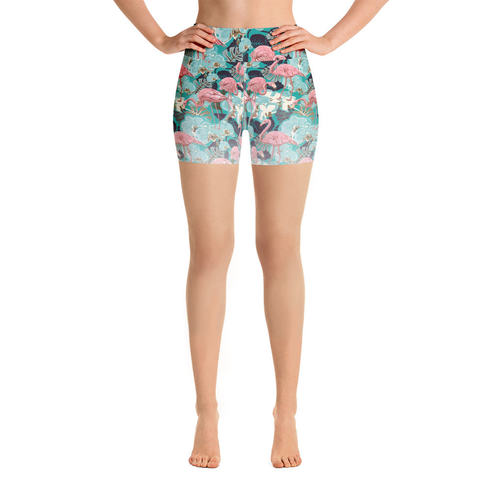 Flamingo | Yoga Shorts