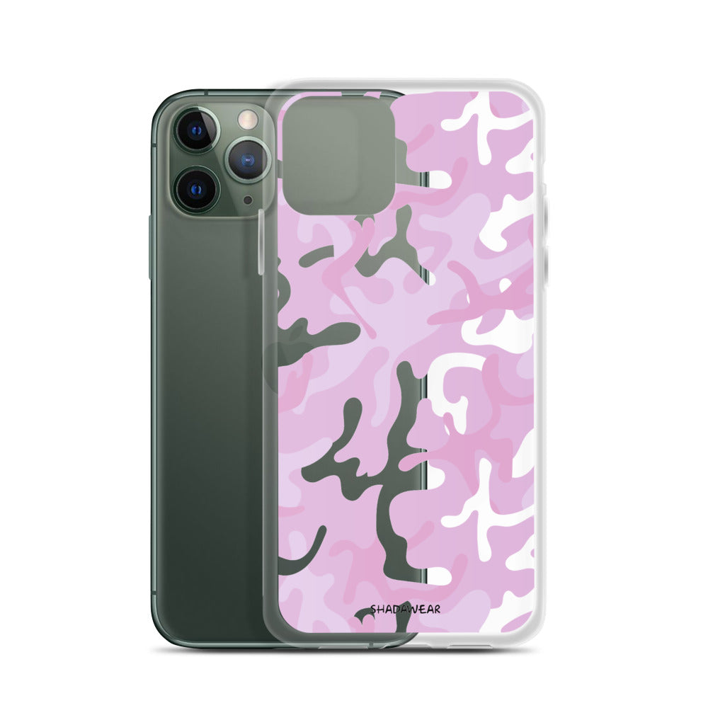 Pink  Camo | Clear iPhone Case