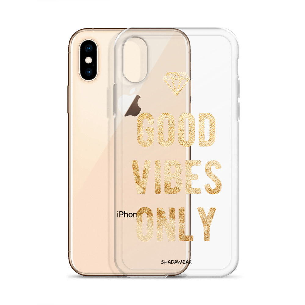 Good Vibes Only | Clear iPhone Case