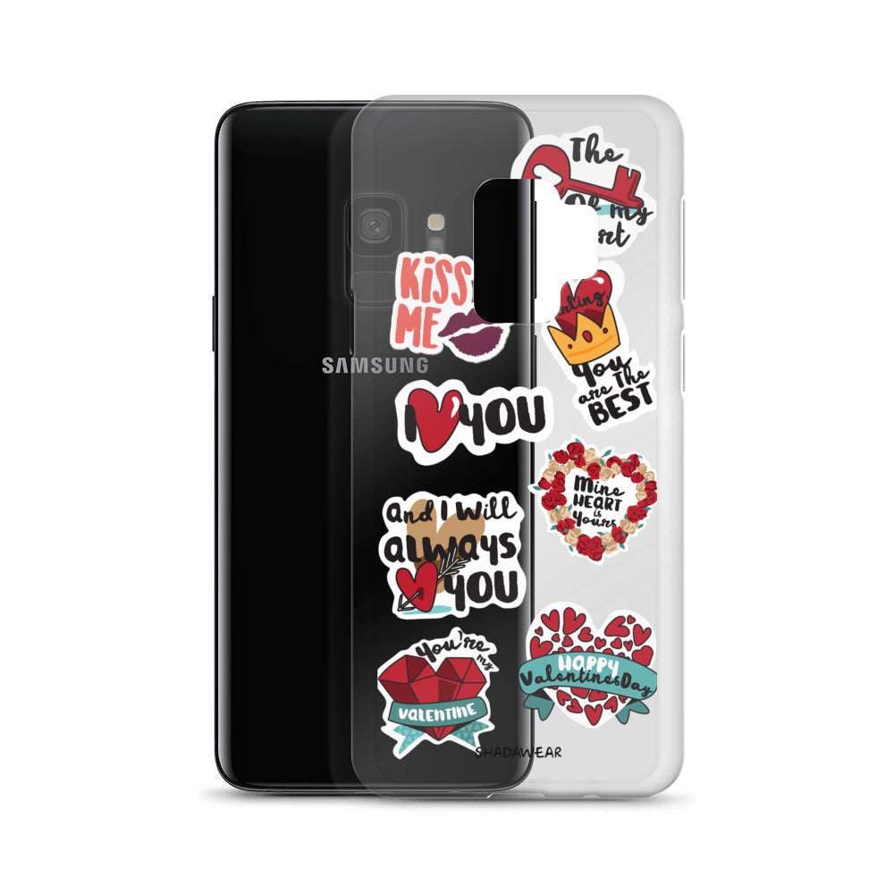 Love Valentine Stickers | Samsung Case