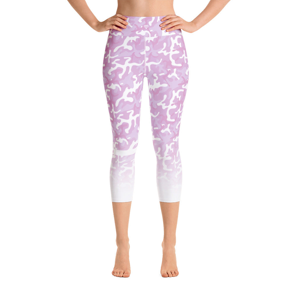 Pink Camo | Yoga Capri Leggings
