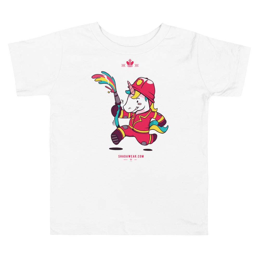 Unicorn Fire Fighter | Toddler Tee