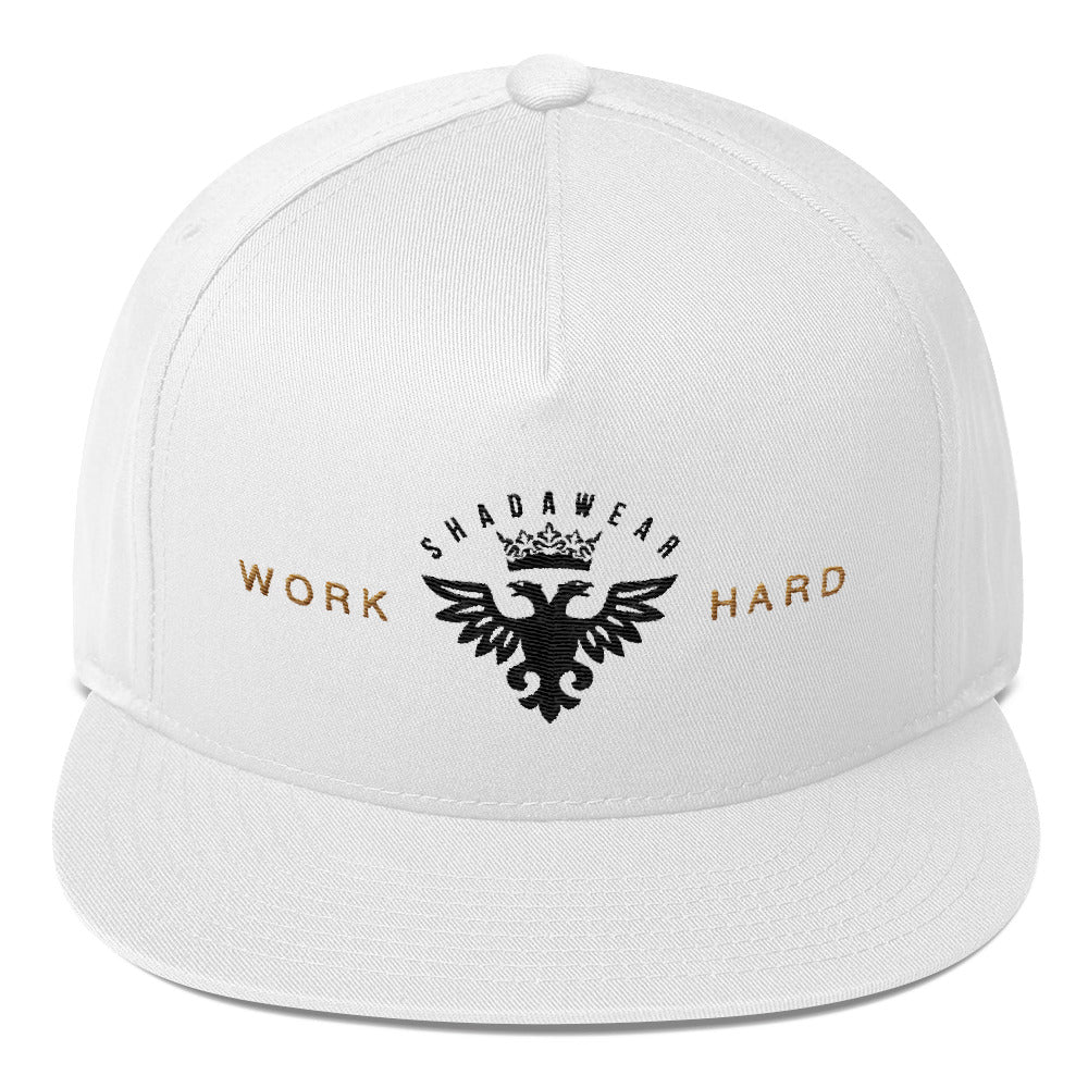 Work Hard | Flat Bill Cap