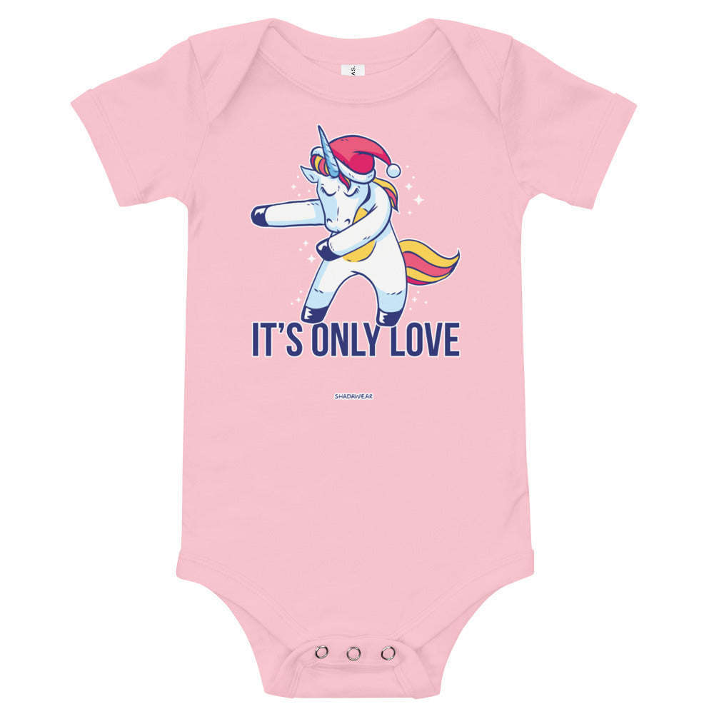 Only Love Unicorn | Baby Bodysuit