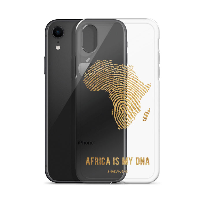 Africa is my DNA | Gold | Clear iPhone Case