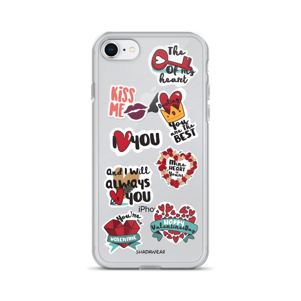 Love Valentine Stickers | iPhone Case