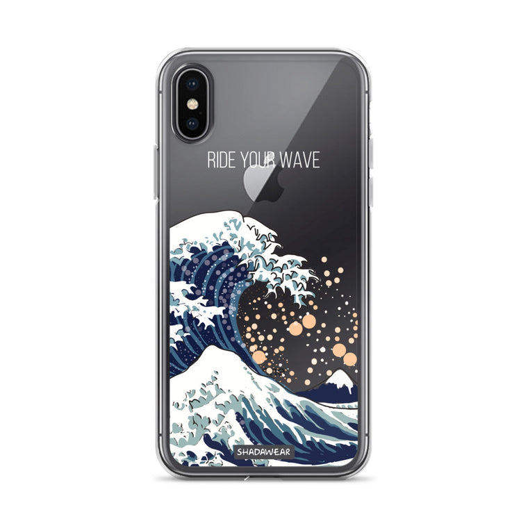 Ride your Wave | Japanese | Clear iPhone Case