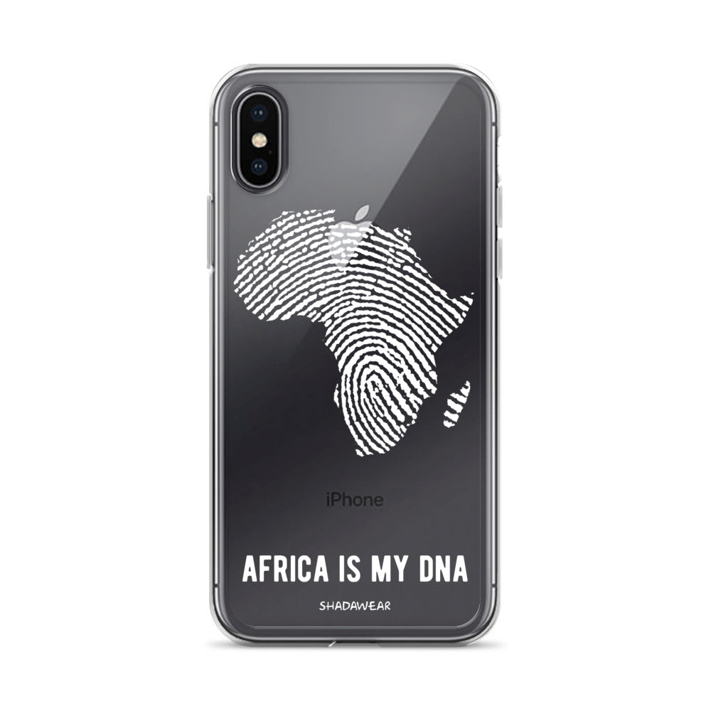 Africa is my DNA | Black | Clear iPhone Case