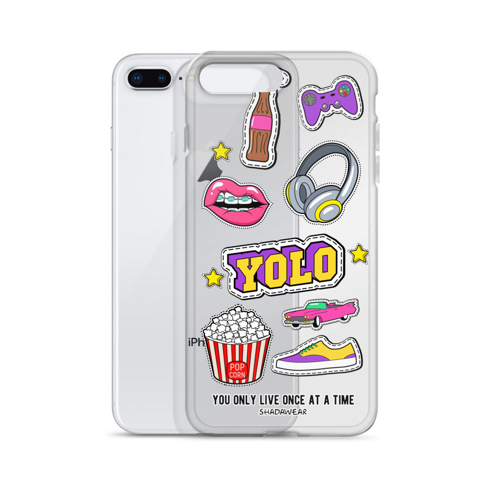 YOLO stickers | Clear iPhone Case