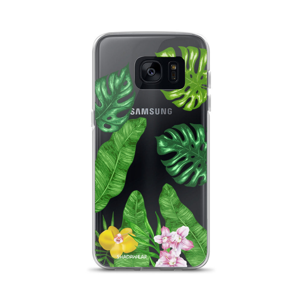 Tropical Clear Samsung Case