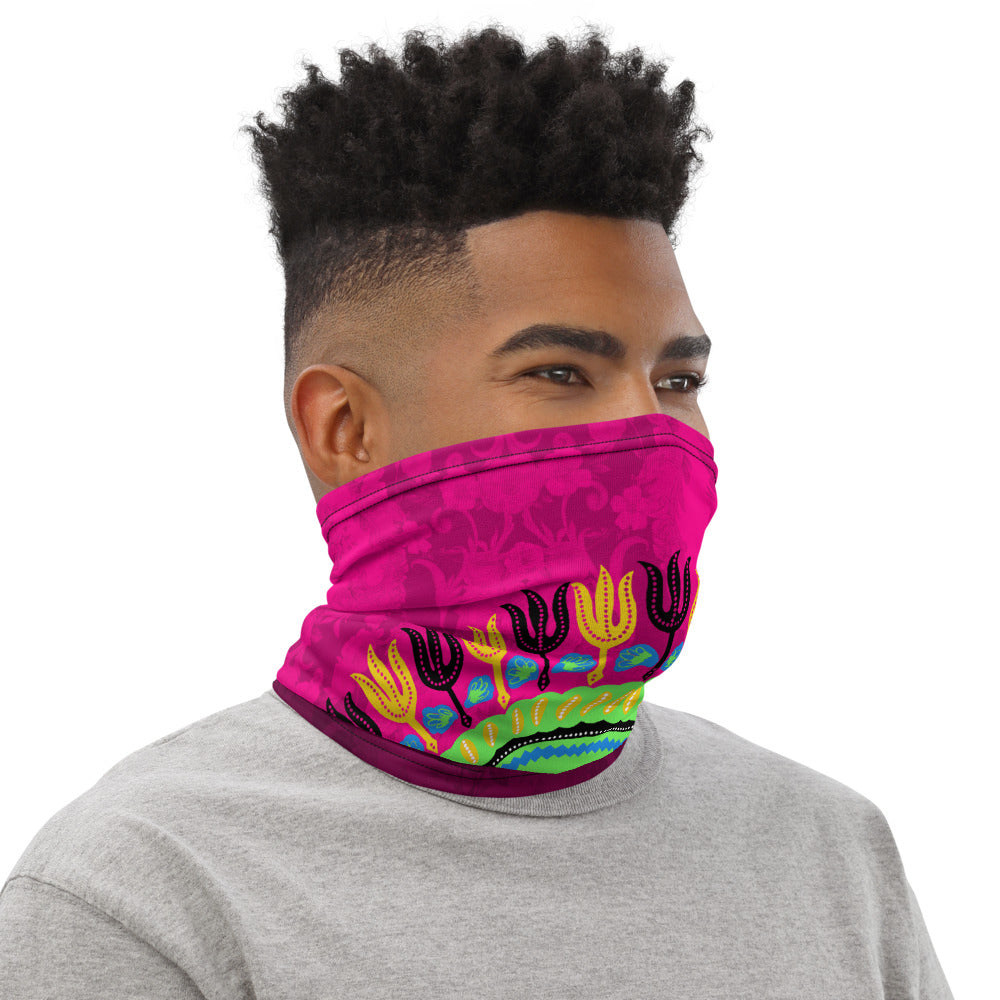 Dashiki Fuschia | Neck Gaiter