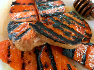 Charred Sweet Potatoes with Honey and Olive Oil