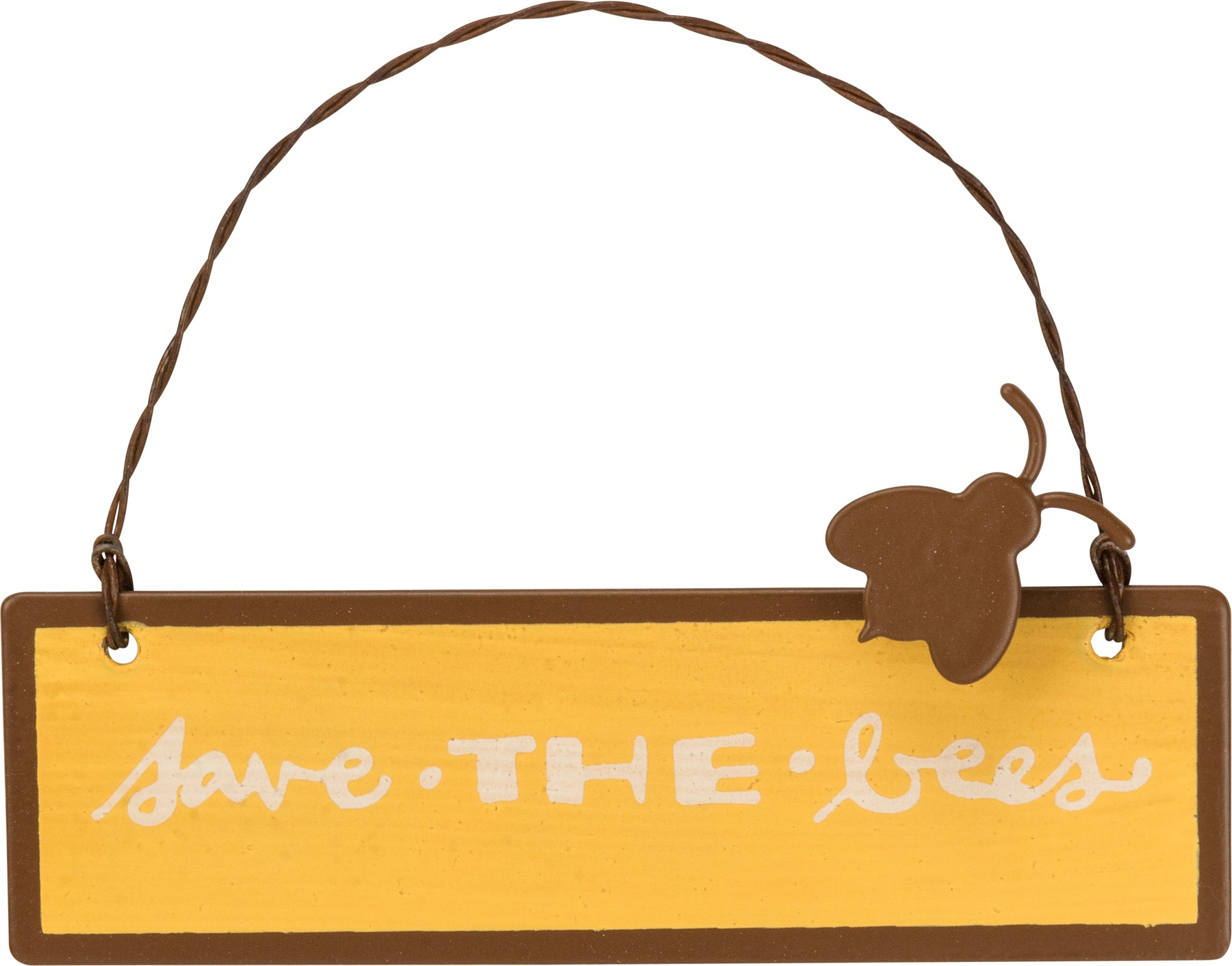 Tin Ornament - Save The Bees