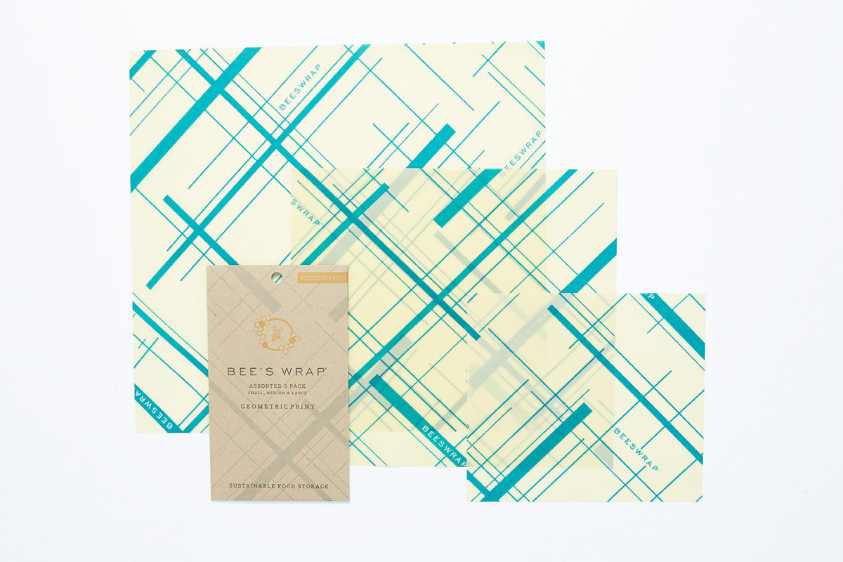 Geometric Print Beeswrap Assorted set of 3 sizes