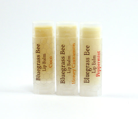 3 Pack of Lip Balm - Honey Cinnamon, Coco, Peppermint
