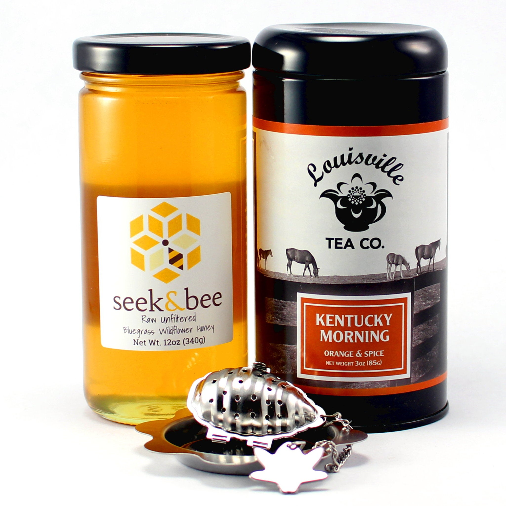 Honey and Tea Set with Beehive Infuser
