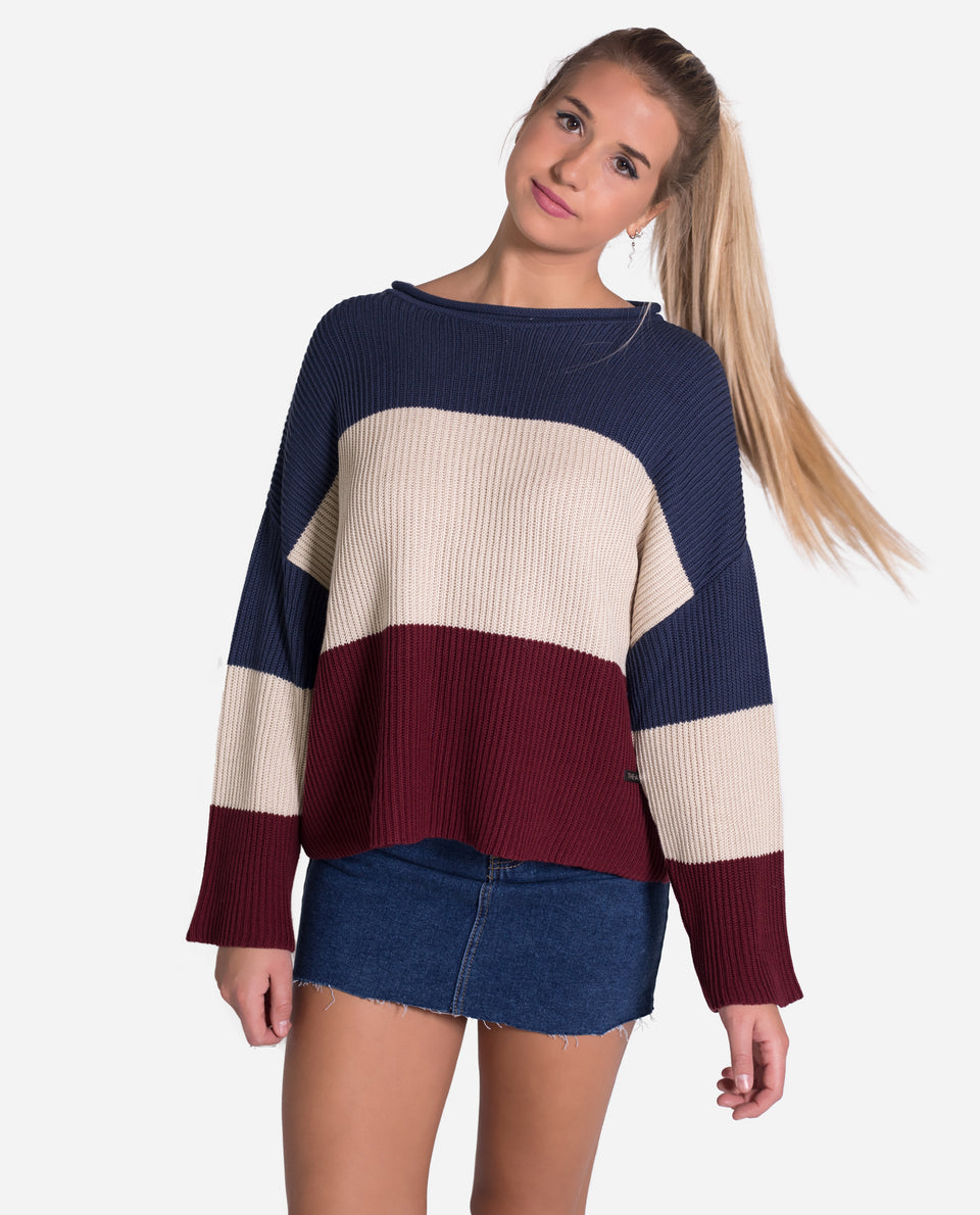 Jersey rayas 3 colores mujer | Jerseys de rayas | Knitwear THE-ARE