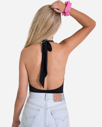 BODY ROCK | Body negro escote halter encaje mujer | Tops de fiesta | THE-ARE