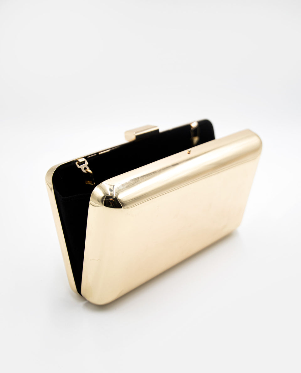 Bolso de mano dorado | Clutch dorado para eventos | THE-ARE
