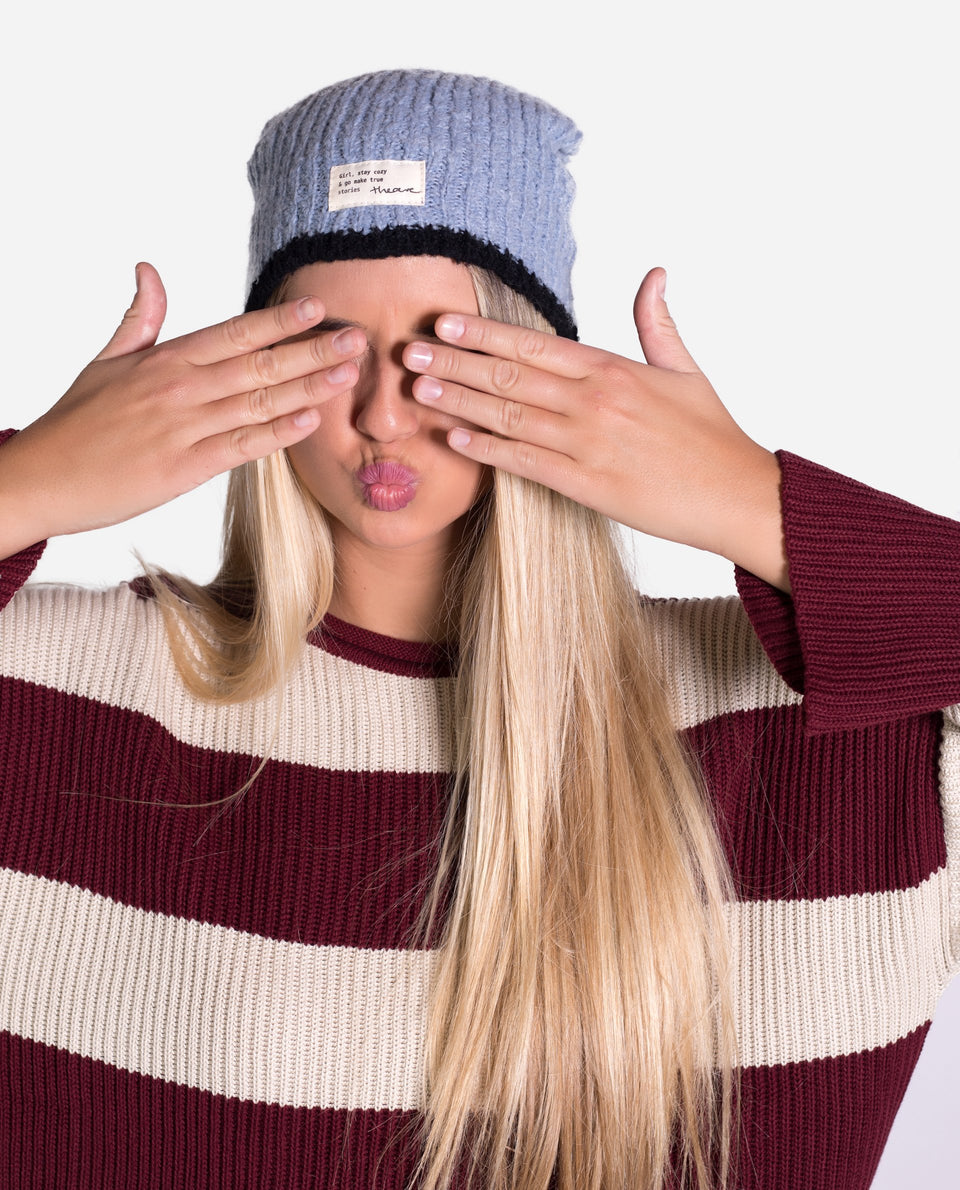 Gorro azul de punto | Accesorios de invierno THE-ARE