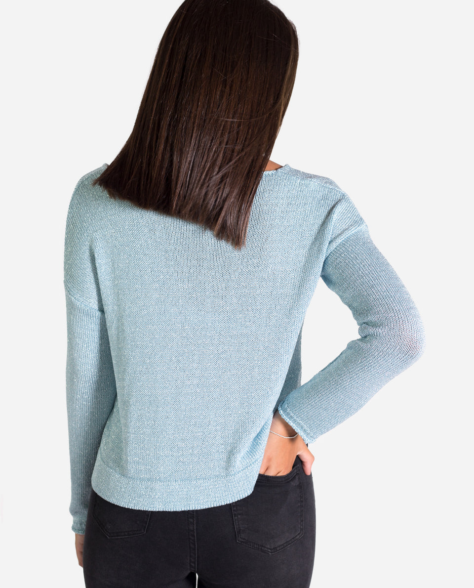 JERSEY LUX | Jersey azul mujer con lurex plata | Knitwear 19/20 | THE-ARE