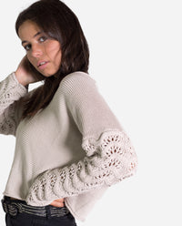 JERSEY OLDTOWN | Jersey gris oversize mujer 100% algodón | Knitwear 19/20 THE-ARE