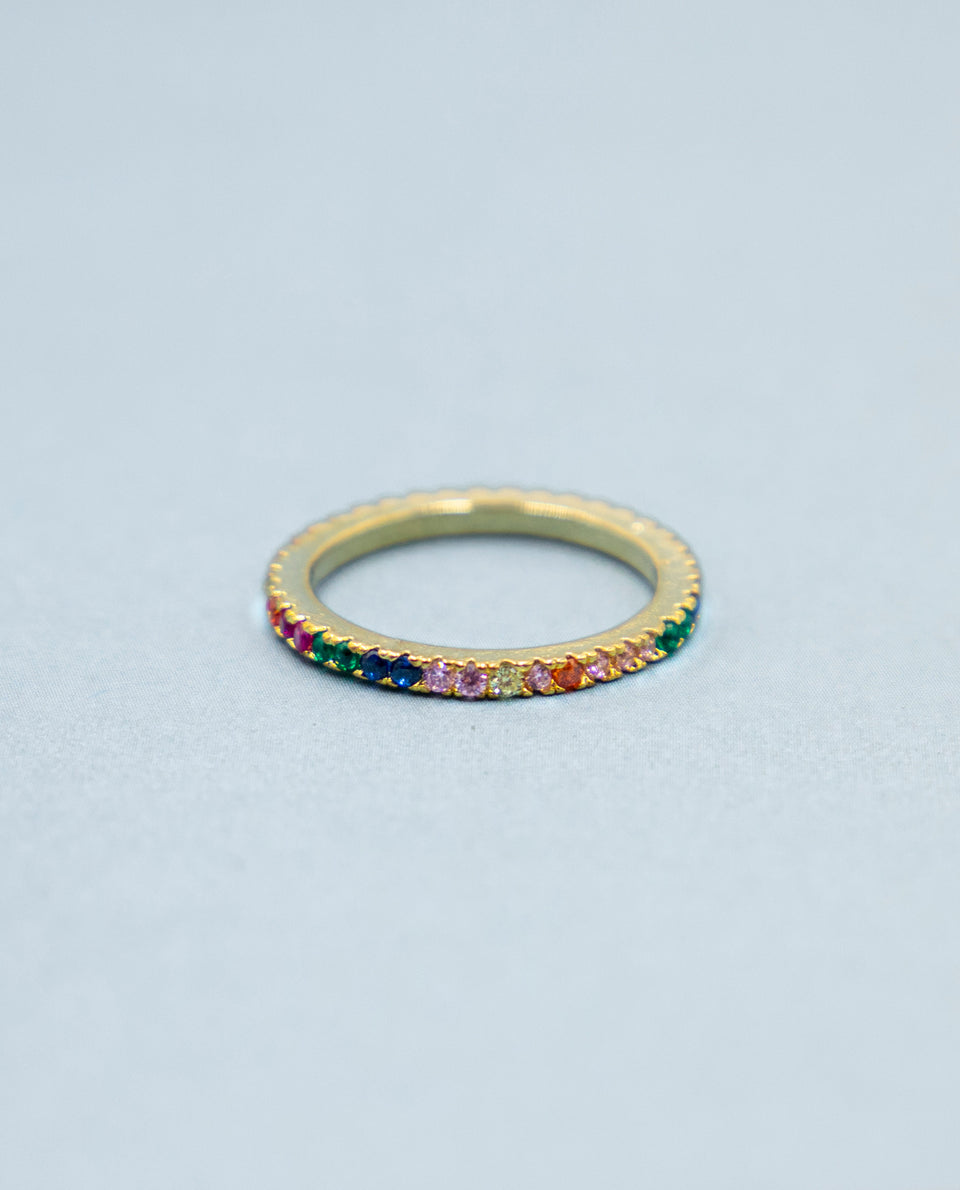Anillo con piedras multicolor | Joyitas y complementos THE-ARE