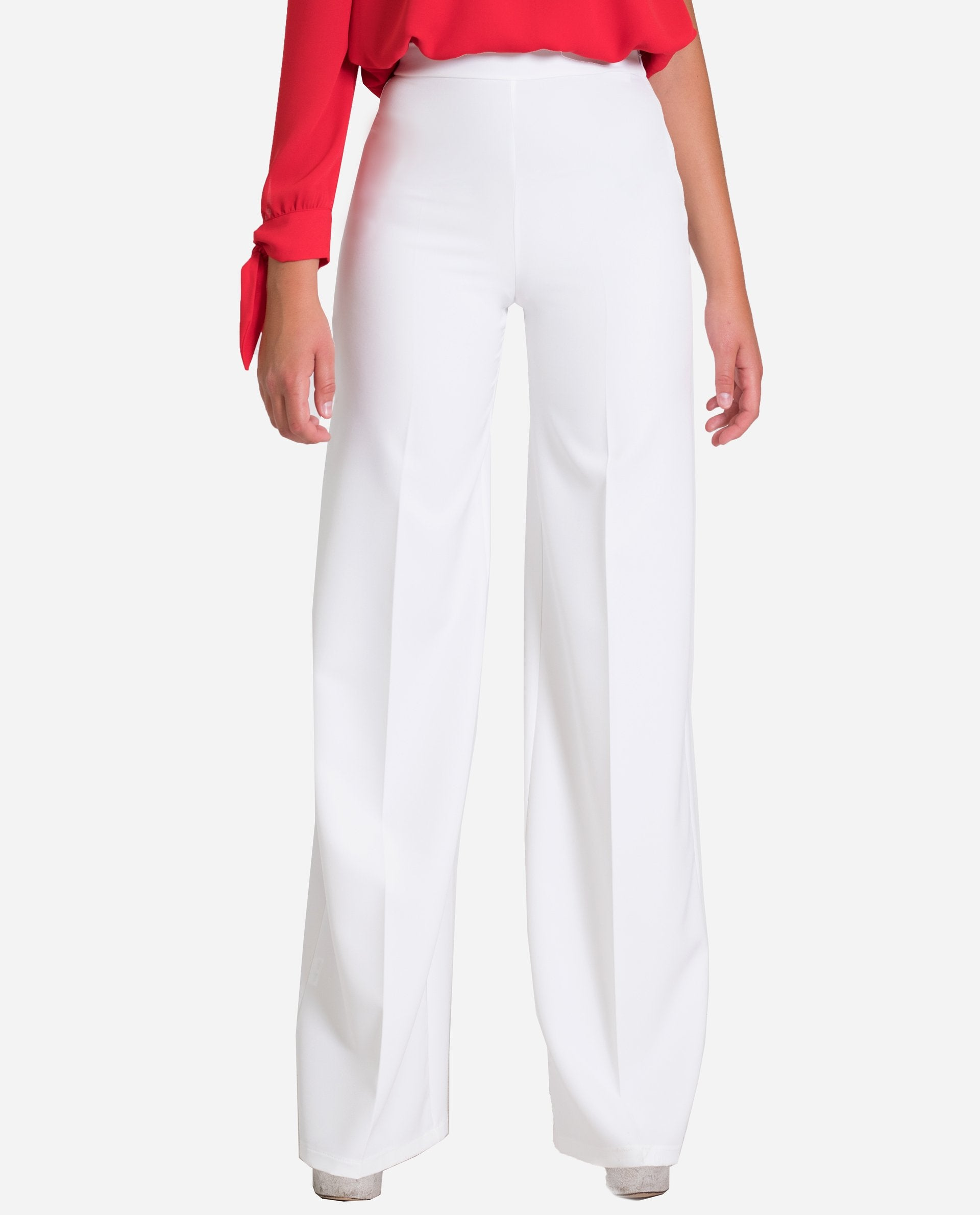 White Palazzo Pants Tall Rubber Waist The Are