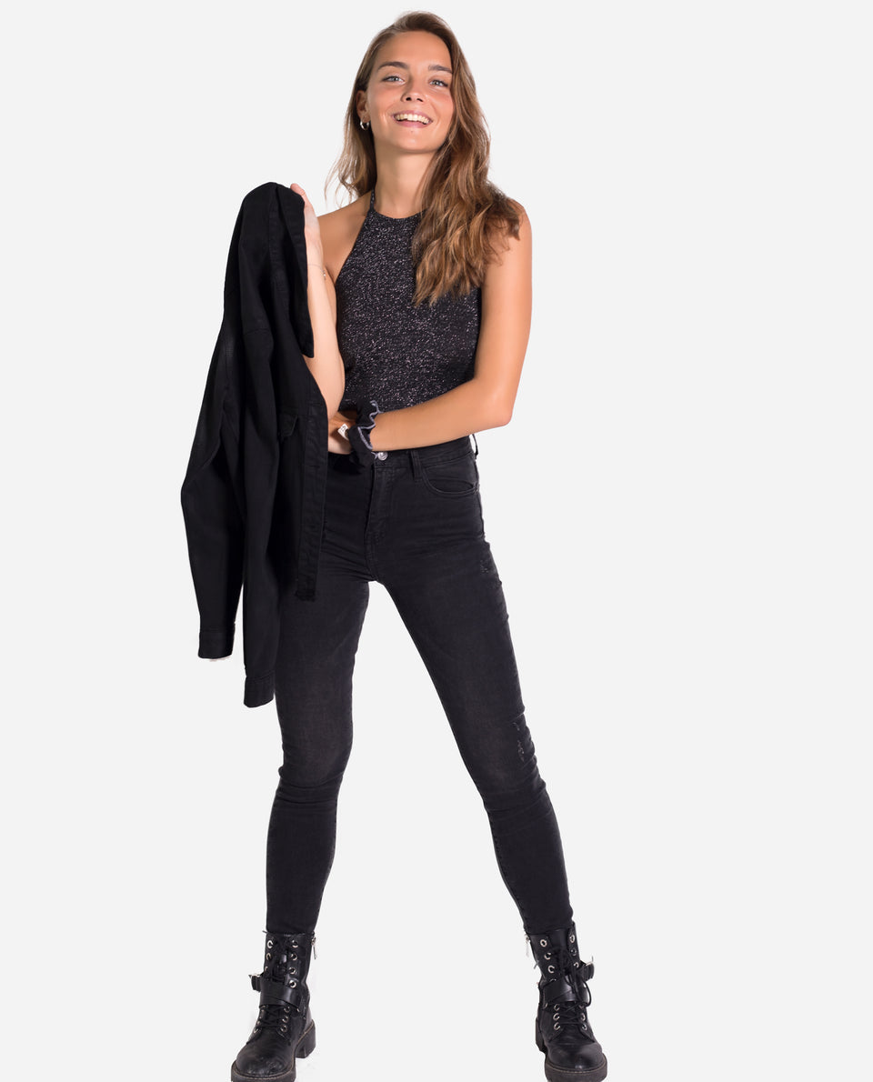 CLASSIC DENIM TROUSERS | Black jeans for women | Black slim jeans | THE-ARE