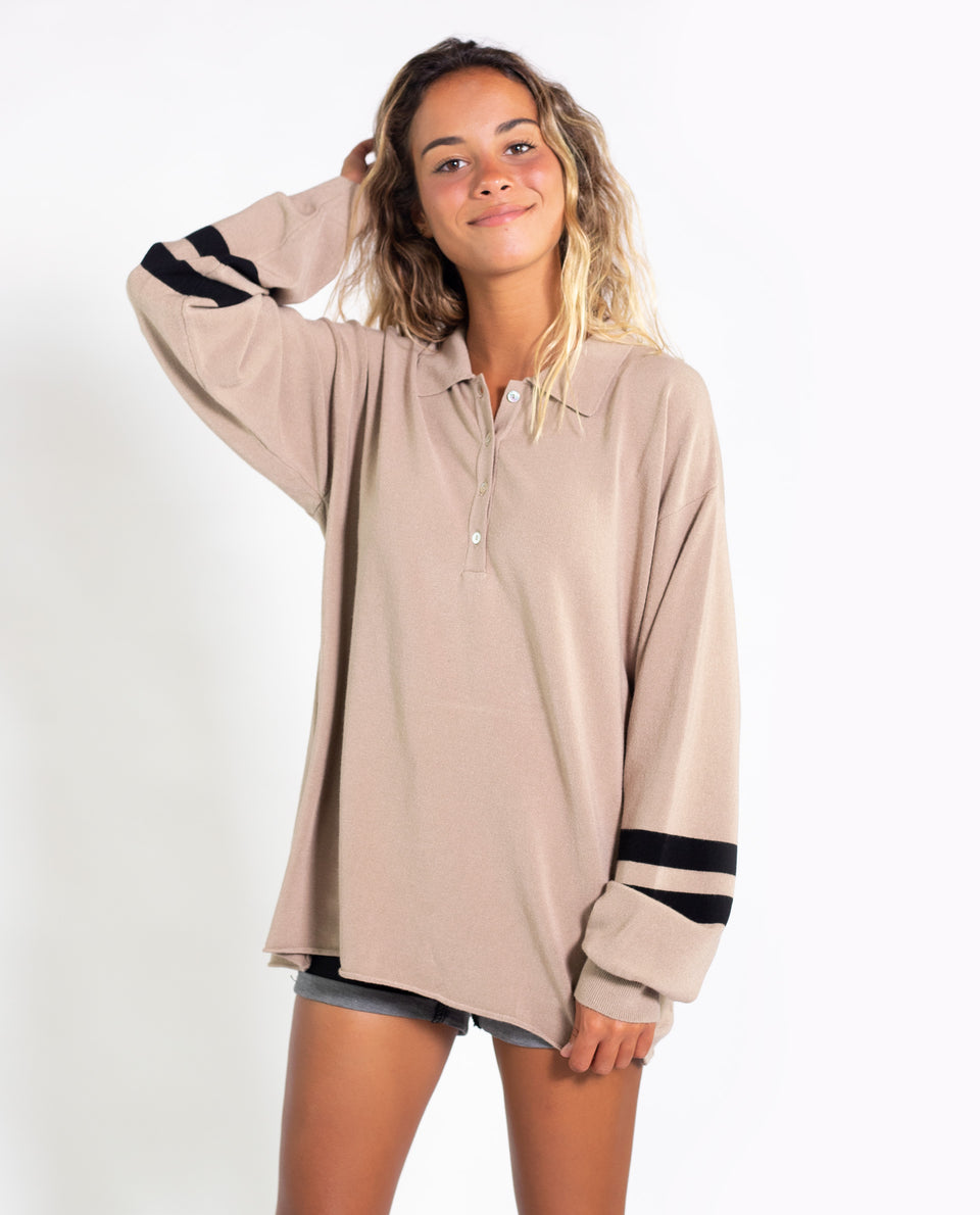 POLO PREPPY | Jersey polo abertura botones | Jerseys chicas THE-ARE