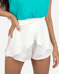 SHORT TWIST | Short blanco mujer reversible | Pantalones cortos chica | THE-ARE