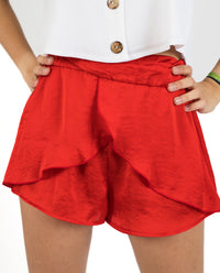 SHORT TWIST | Short rojo mujer reversible | Pantalones cortos chica | THE-ARE
