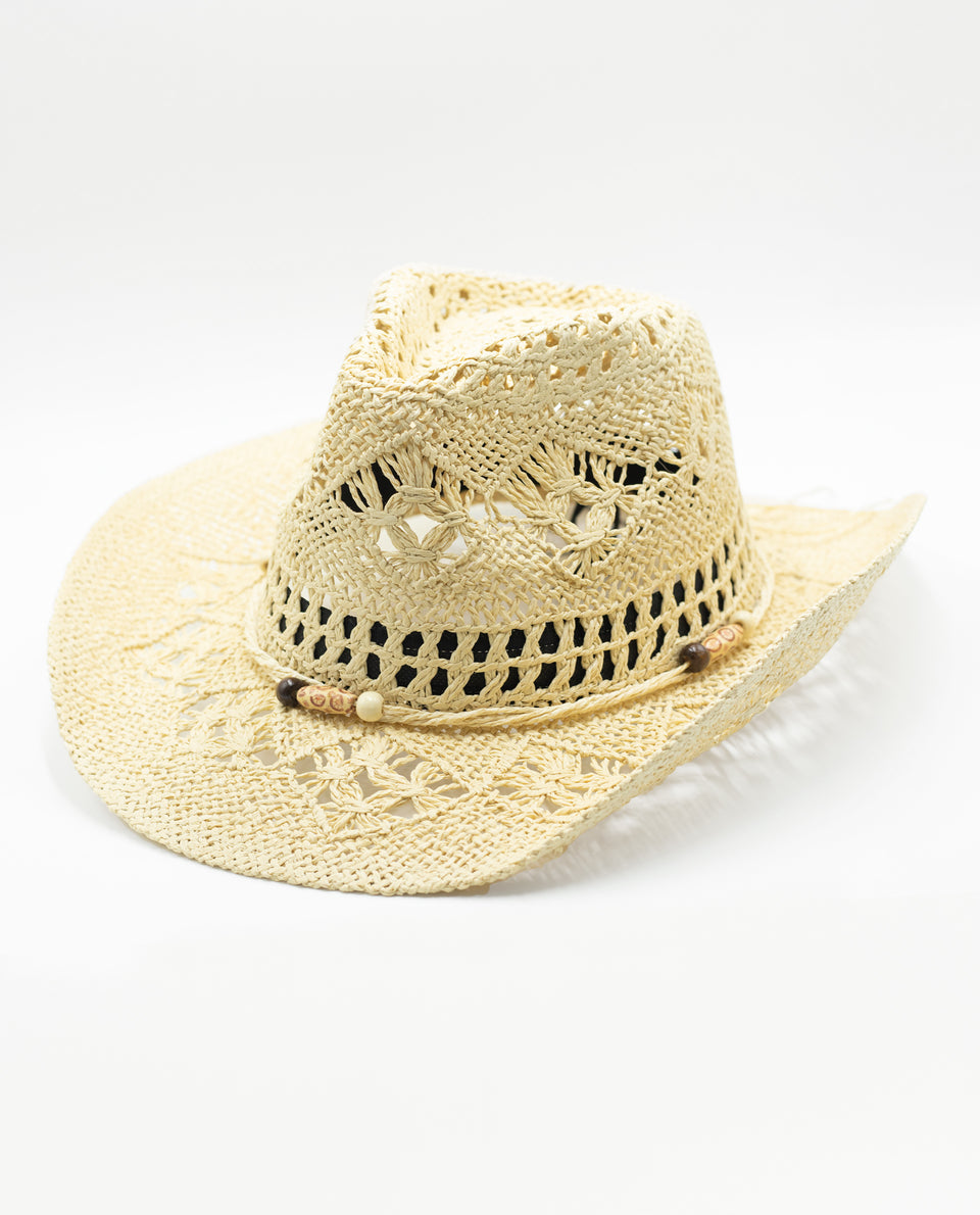 SOMBRERO MORE MOMENTS | Sombrero de Paja con Avalorios de Mujer | Accesorios THE-ARE