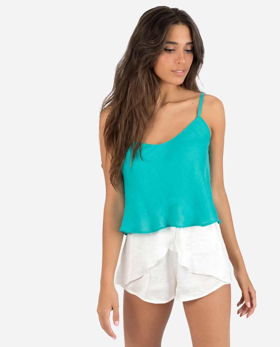 CROPTOP TEEN | Emerald crop top with straps for women street summer | THE-ARE