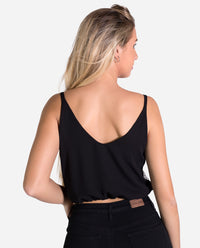 Top de lentejuelas negro y plata reversible | Tops de fiesta THE-ARE