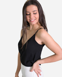 TOP JACKIE | Top negro de tirantes elegante reversible para eventos o graduaciones mujer | THE-ARE