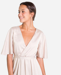 VESTIDO CANNES | Vestido nude largo invitada perfecta elegante mujer | THE-ARE
