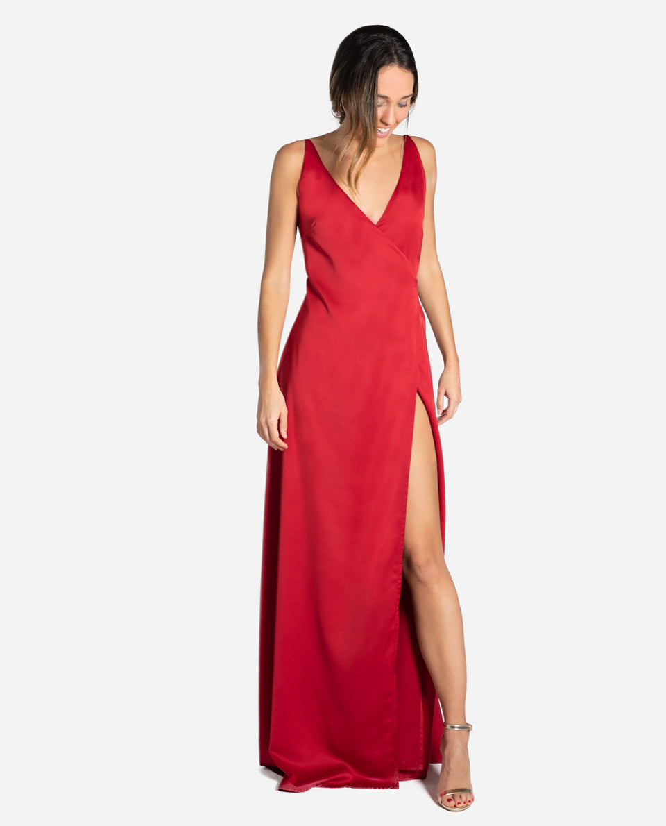 VESTIDO MRS. CONNOR | Vestido largo rojo elegante eventos y graduaciones | THE-ARE