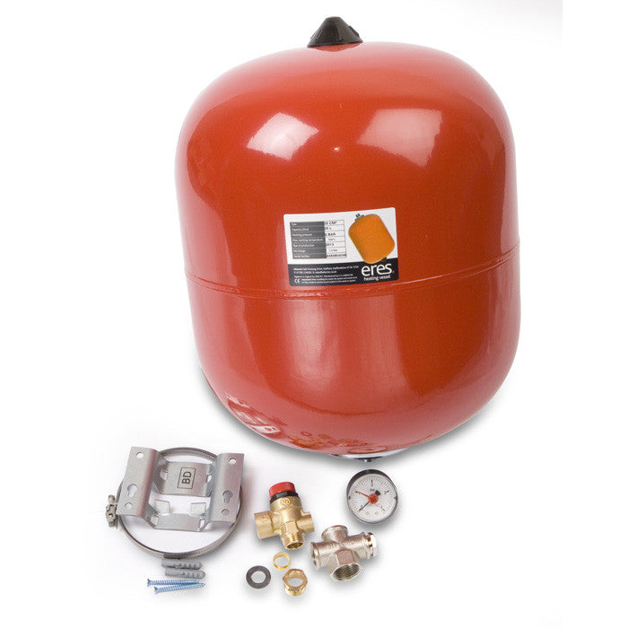 Central Heating Expansion Vessel Pack with mounting kit, valve and ...
