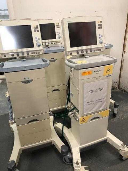 Lot of  3 USED Servo-I Accute Care Ventilator for Adults - MBR Medicals