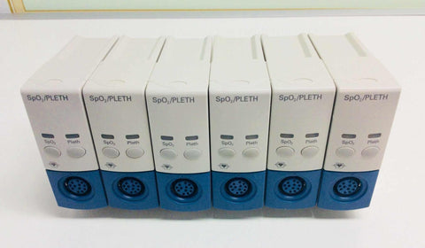 Lot of 6 USED Philips Medizin Systeme SpO2 PLETH Pulse Oximetry Modules M1020A - MBR Medicals