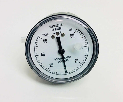 NEW Instrumentation Industries 60cm H20 Vacuum Pressure Gauge NS60-PBS 0612 Warranty FREE Shipping - MBR Medicals