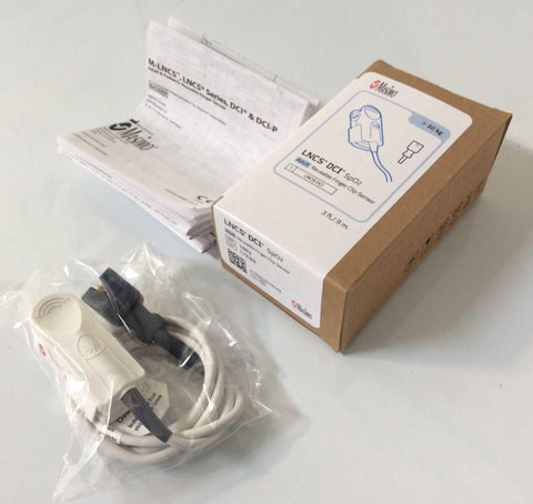 NEW Masimo LNCS DCI 3' Foot Reusable SpO2 9 Pin Finger Clip Sensor 1863 Warranty FREE Shipping - MBR Medicals