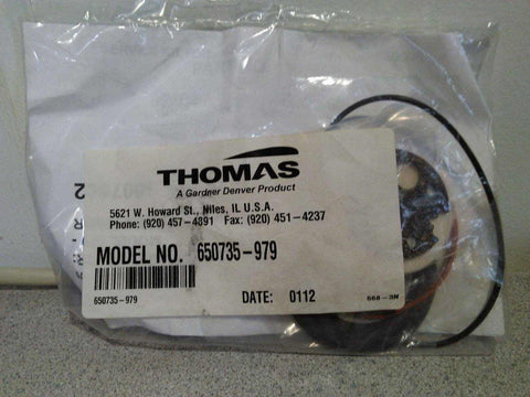 NEW Thomas Rebuild Service Kit 1007562 650735-979 for model 670 - 4 Port Compressor Warranty FREE Shipping - MBR Medicals
