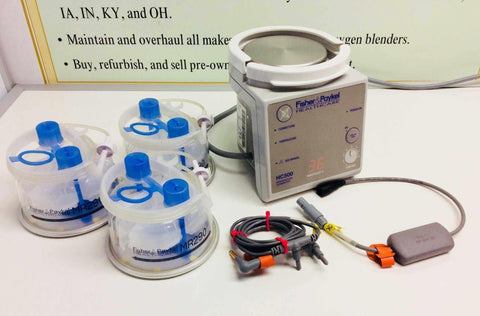 USED Fisher and Paykel HC500 Respiratory Humidifier with Probes and Water Tank Warranty FREE Shipping - MBR Medicals