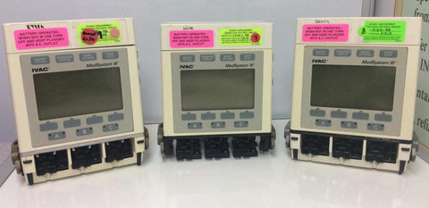 USED Lot of 3 IVAC MedSystem III Multi Channel Infusion Pump 2860D - MBR Medicals