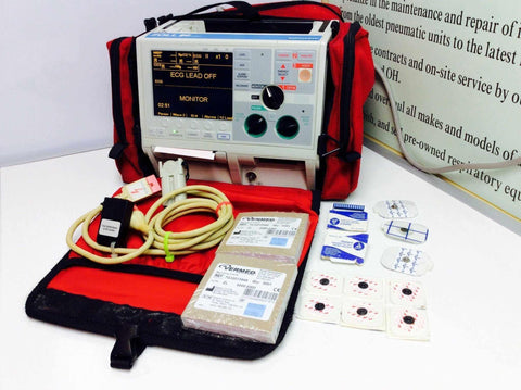 USED ZOLL M Series CCT Biphasic 200 JOULES MAX Defibrillator 12SL Program With Accessories Warranty FREE SHIPPING - MBR Medicals