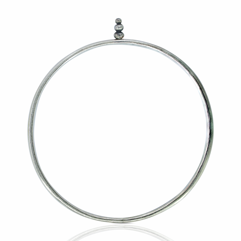 Silver Zen Designer Bangle on IndieFaves